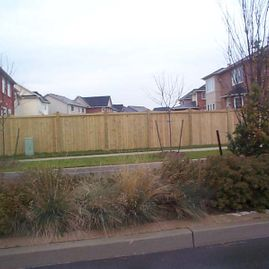 residential wood long fencing