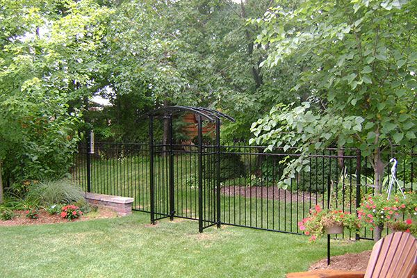 residential iron fence with gates