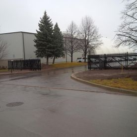commercial ornamental fence with office
