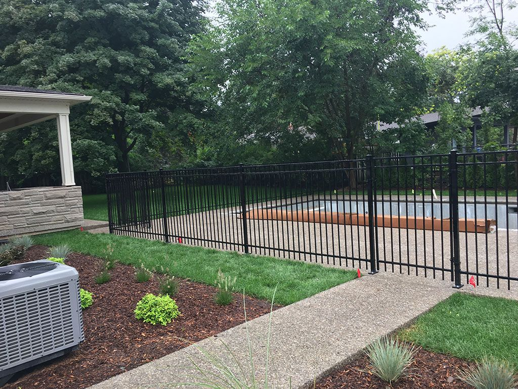 residential long iron fence