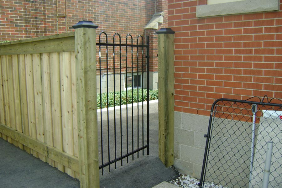 commercial ornamental fence gates with wood