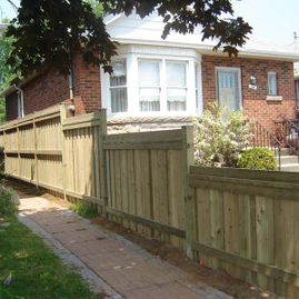 residential fencing infront of house