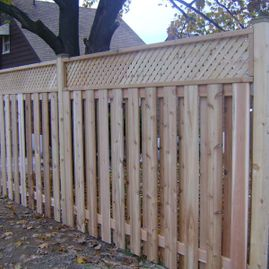 residential brown close fencing