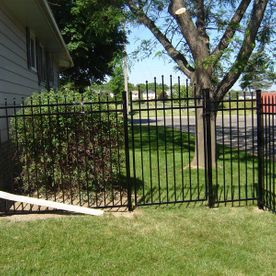 commercial ornamental fence with house1