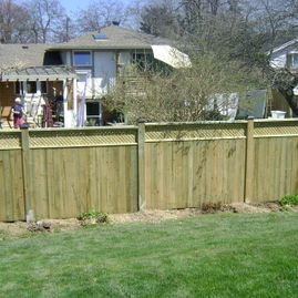 residential fencing with garden