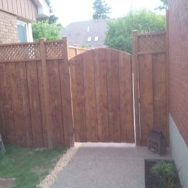 wood fencing gates infront of doors1