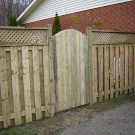 fencing gates with house