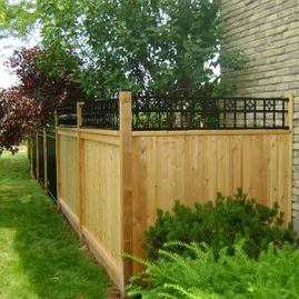 residential fencing with plants