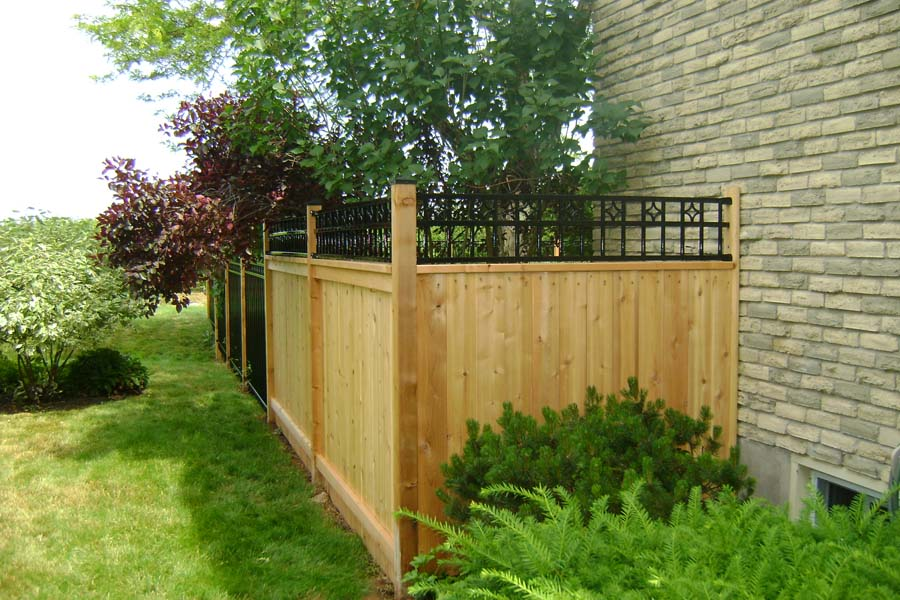 yellow wood residential fences