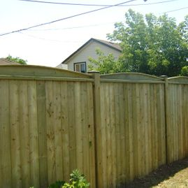 residential wood large fencing