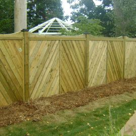 residential wood design fencing