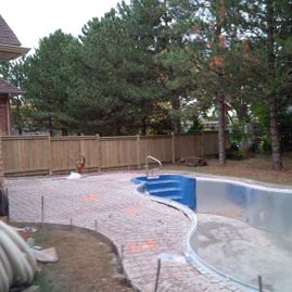 fence with pool