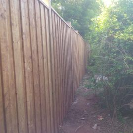 long wood fencing