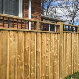 fence design with house