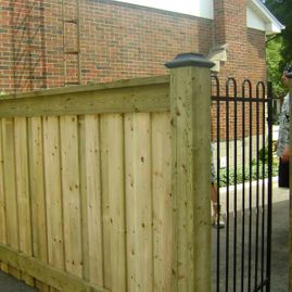 residential gold color fencing