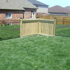 residential fencing with greenary