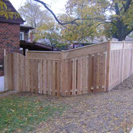 residential brown fencing