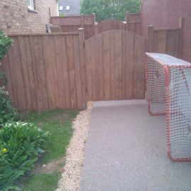 wood fencing gates infront of doors