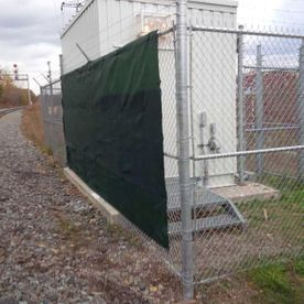 commercial chain fence with transformer
