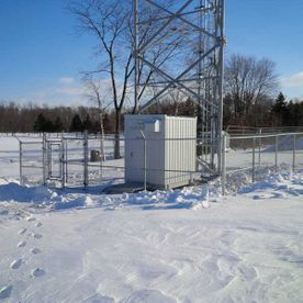 commercial chain fence around transformer