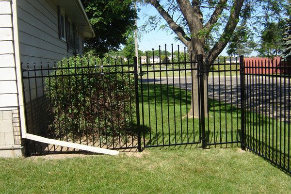 residential close iron fence